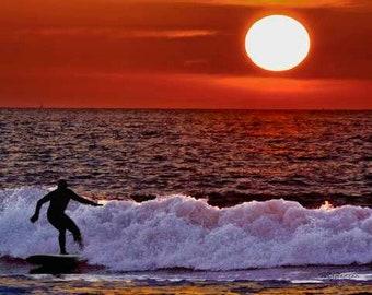 Surfing Rudee Inlet