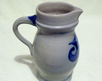 Vintage French Stoneware Salt Glazed Jug / Pitcher