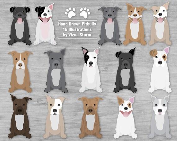 Pitbull Clipart Dog Clip Art Pitbulls Pet Scrapbook Graphics