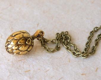 Artichoke Necklace - Vintage Gold Artichoke Pendant