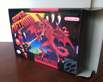 Super Metroid Super Nintendo SNES Reproduction Box! Best Repros in the world!