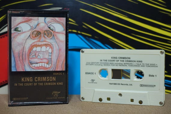 In The Court Of The Crimson King by King Crimson Vintage Cassette Tape