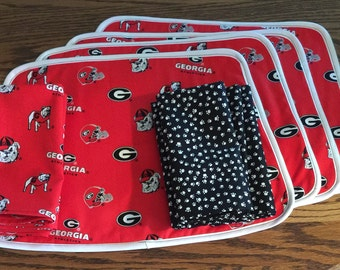 UGA or other college/pro team placemats and napkins
