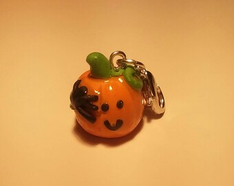 Pumpkin and Spider Charm