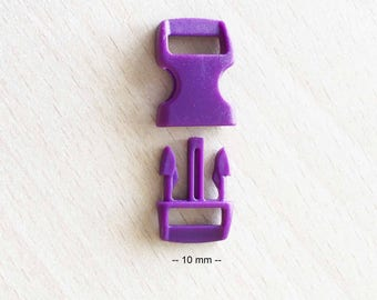 Quick purple buckle clasp