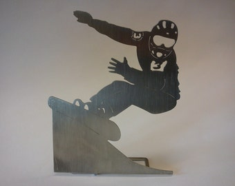 "snowboarder - ""race alpin"" - decorative object for the desktop"