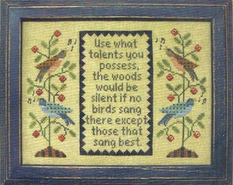 Use What Talents You Possess by All Through the Night Counted Cross Stitch Pattern/Chart