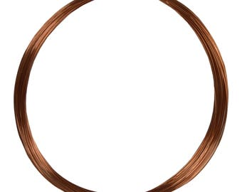 50' Round Dead Soft Copper Wire 28 Gauge Jewelry Making Craft Wire - WIR-650.28