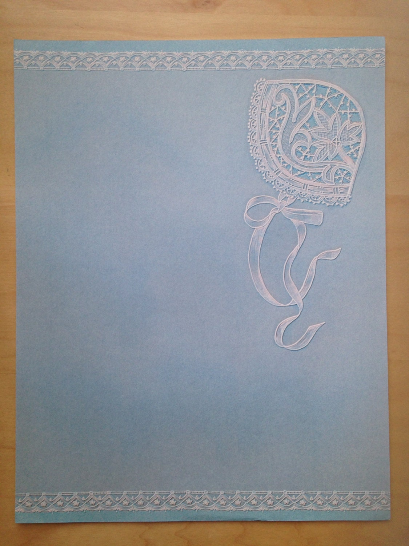 8.5x11 Baby Blue Bonnet Paper