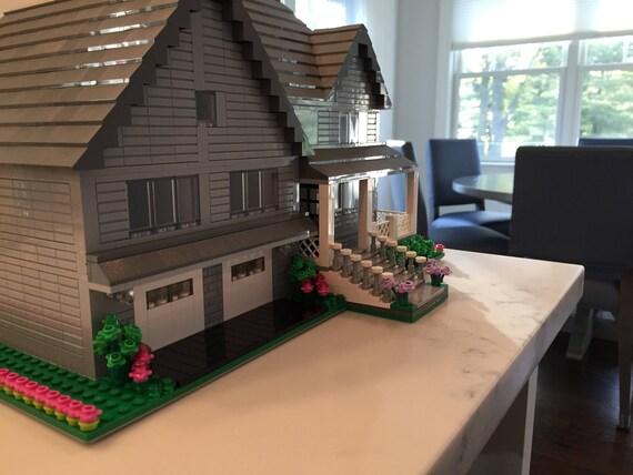 Individuelles Lego Modell Haus Außen Detail