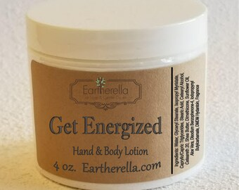 Eartherella GET ENERGIZED Hand and Body Lotion Jar 4 oz.