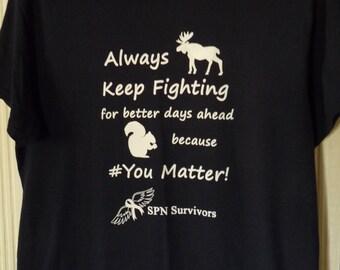 AKF because #YouMatter! t-shirt, Navy
