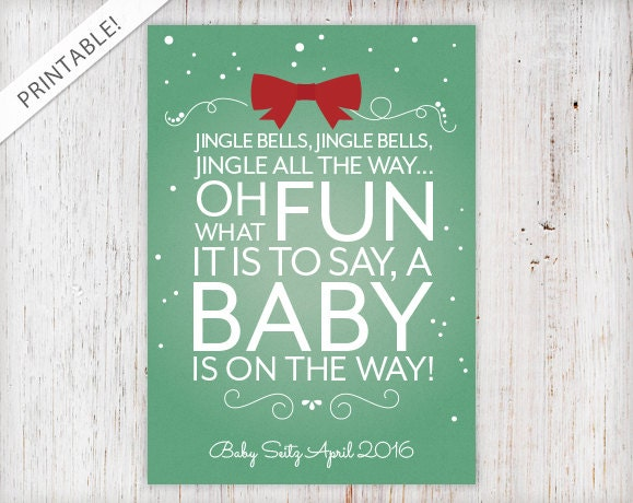 Superior Christmas Cards To Announce Pregnancy
