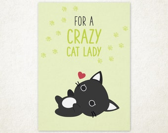 Purrballs Greeting Card - For A Crazy Cat Lady