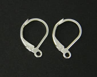 Silver Leverback Earring Findings Lever Back Earring Components |S24-6|12