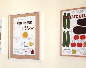Collection complète de 9 affiches design A3 - Les Recettes graphiques