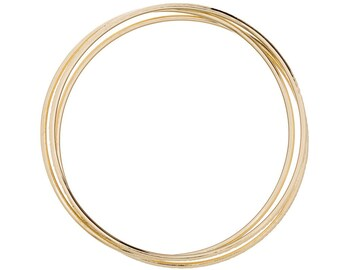 Real Gold Bangles, Solid 14K Gold Bangle, Smooth 14K Gold Bangle Bracelets sold individually, Also available in white gold and rose gold