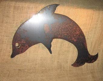 Dolphin-Metal Art Nautical Line