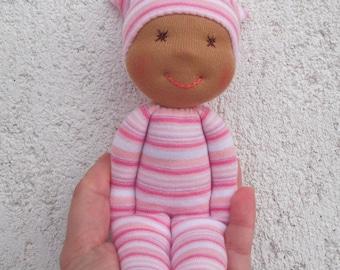 Black baby doll, African american rag doll, Black baby gift, Waldorf doll for afro baby girl, Afro baby shower, Black baby girl, Black dolls