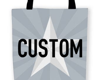 Custom Carryall Tote Bag - 13in, 16in or 18in