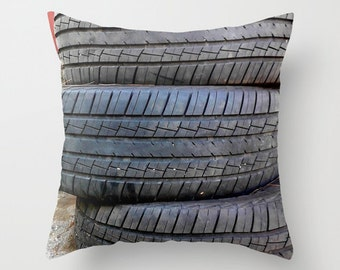 Photo Pillow Cover Decorative Pillow Guy Pillow Car Pillow Vintage Pillow Kids Pillow Cover tire pillow