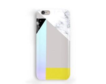Sweet Marble Phone Case, iPhone 7, 6, 6s, Plus, SE, 5s, 5c, geometric gradient block phone case, Samsung, S8, S8 Plus, Google Pixel, Yellow