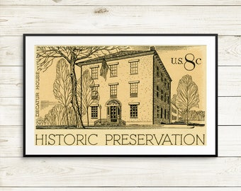 History teacher gift idea, Washington DC posters, US historian gifts, US history wall art, Decatur House, White House Historical Association