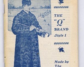 Antique Vintage Double American Trade Catalog Fur Clothing Steam Cabinet Paper Ephemera