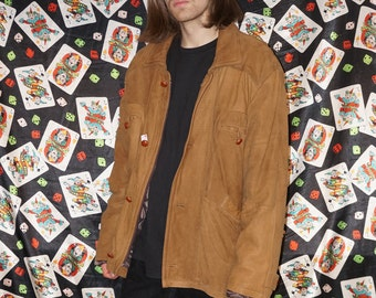 Vintage 80's Brown Lined Suede Jacket
