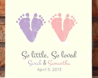 So Little So Loved Footprint Plaque 2050_plq