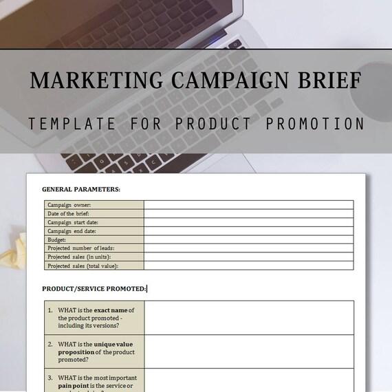 marketing brief template
