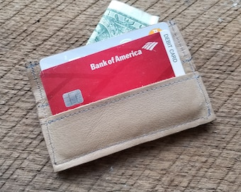Brown Leather Card and Cash Holder