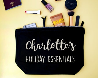 Personalised Holiday Essentials-Hen Do-Wedding Make Up-Cosmetic Pouch-Travel Bag