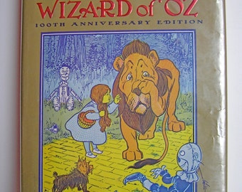 The Wonderful Wizard of Oz  100th Anniversary Vintage Hardcover 1987