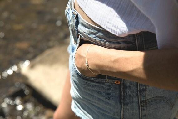 Real silver little pineapple bracelet handmade in Montreal