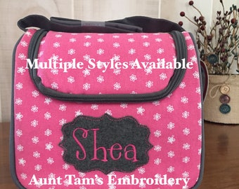 Kids Personalized Lunch Box, Kids Lunch Box, Fit & Fresh, School Bag, Lunch Bag with Name, Embroidered Lunch Cooler,  Insulated Lunch Cooler