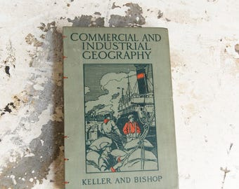 1912 GEOGRAPHY Vintage Notebook Journal