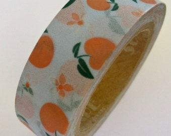 CLEARANCE Washi Tape 'PEACHY KEEN'  15mm x 10 meters