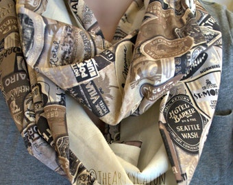 Monogrammable Travel Neutral Infinity Scarf, Only store to offer these!