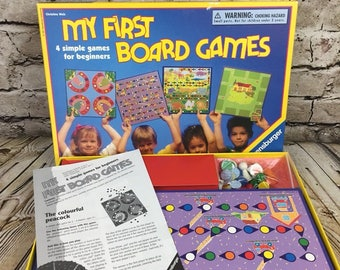 Vintage My First Board Game Ravensburger Ages 3 and Up Simple Beginners 1997