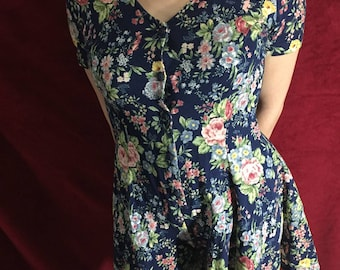 Early 90s floral print romper