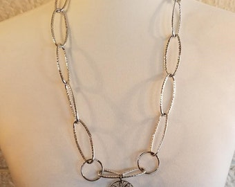 Necklace Aluminum Chain & Filigree Drop
