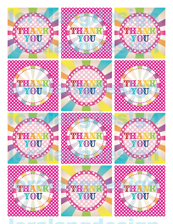 Nifty image inside printable party favor tags