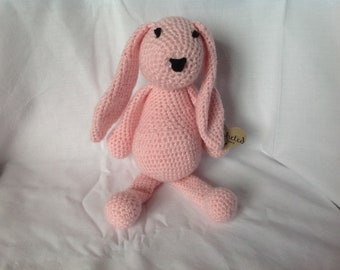 Small Hand Crafted Crochet 'Cuddle Bunny'.