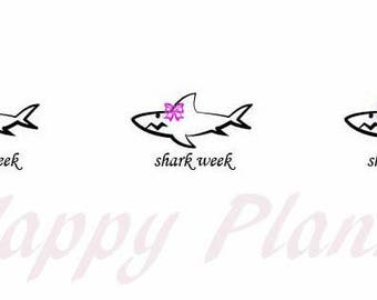 Shark Week - Functional Planner Sticker Set