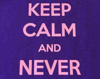 Keep Calm & Never Give Up Breast Cancer T shirt,Breast Cancer Survivor T shirt, Breast Cancer Awareness T shirt,