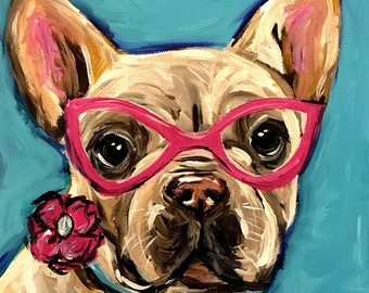 Custom dog portrait, custom pet painting, custom dog or cat painting, Expressive / Impressionistic Style  SPECIAL OFFER
