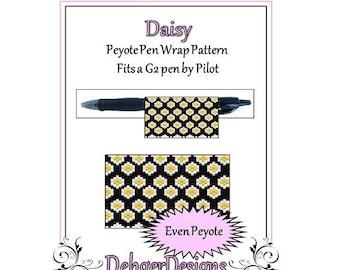 Bead Pattern Peyote(Pen Wrap/Cover)-Daisy