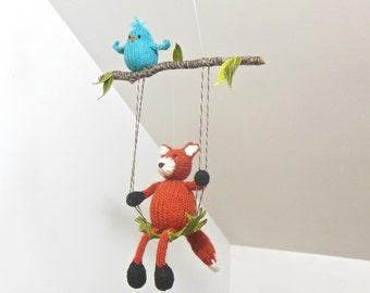 Baby Mobile, Baby Mobiles, Fox Mobile, Woodland Mobile, Bird Mobile, Fox Mobile, Fox Nursery, Woodland Nursery, Bird Nursery, Animal Mobile