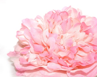 Silk Peony Flower - 1  Jumbo Girlie Pink  Peony - Artificial Flowers - PRE-ORDER